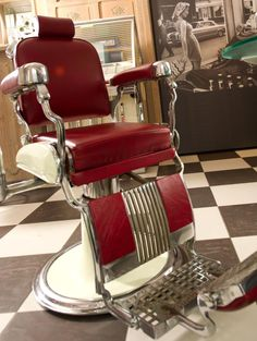 vintage barber chair shave and a haircut pinterest. Black Bedroom Furniture Sets. Home Design Ideas