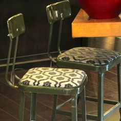 Industrial Stools Pair now featured on Fab.