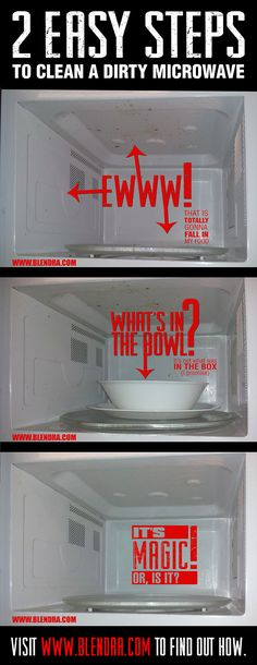How to clean a microwave in 2 easy steps. #Home #Cleaning #Easy #DIY