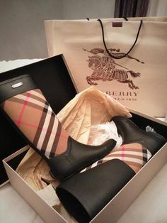 Burberry rainboots and my head just exploded!