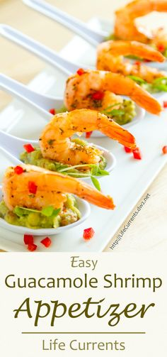 Guacamole Shrimp Appetizer Recipe will help you share the goodness for game day! It's super easy to put together this impressive little appetizer!