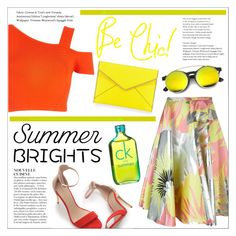 """Summer Brights"" by that-chic-girl ❤ liked on Polyvore featuring River Island, Rochas, Zara, Rebecca Minkoff, Anja, Calvin Klein, polyvorecontest and summerbrights"