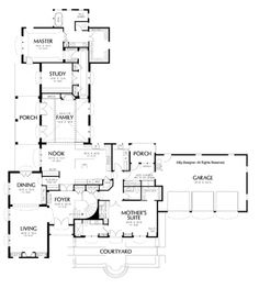 HHHHH Very Nice L Shaped Layout W/great In Law Suite (or 2nd. L Shaped  House PlansCraftsman ...
