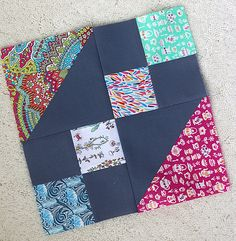 Freshly Pieced Modern Quilts: Jewel Box Quilt Tutorial in Liberty Lawn Modern Quilt Patterns, Quilt Block Patterns, Pattern Blocks, Quilt Blocks, 24 Blocks, Quilting Tutorials, Quilting Projects, Quilting Designs, Scrappy Quilts