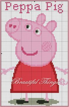 "My creations room: ""Peppa Pig"" Jumper Knitting Pattern, Knitting Charts, Knitting Patterns Free, Peppa Pig, Cross Stitch Designs, Cross Stitch Patterns, Pinterest Cross Stitch, Stitch Character, Intarsia Patterns"