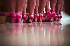 Kristina + Mike - #pink #bridemaid #shoes
