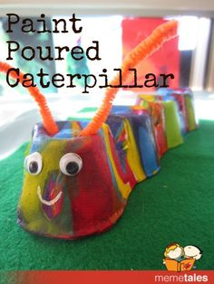 Paint Poured Caterpillar