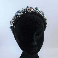 Pearl and crystal embellished headband with diamond detail. Special Occasion Outfits, Hair Band, Hand Sewing, Pearls, Crystals, Detail, Diamond, Awesome, Handmade