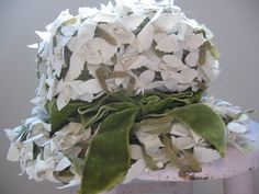 Beautiful Flowered Vintage Hat