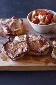 Molasses-Mustard Glazed Pork Chops With Apple Butter Recipes ...