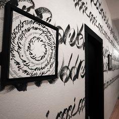 Usugrow solo exhibition @fifty24sfgallery 2014 #usugrow #illustration  #calligraphy #mural