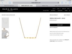 Arrow Necklace, Gold Necklace, Maria Black, Black Jewelry, Jewelry Collection, Sterling Silver, Gold Pendant Necklace