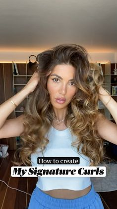 Curly Hair Tips, Easy Hairstyles For Long Hair, Pretty Hairstyles, Curly Hair Tutorial, Hair Up Styles, Aesthetic Hair, Great Hair, Curling, Balayage Hair