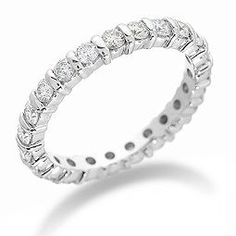 "The Eternity Ring ~ An alternative to the tradional full-band adornment is to only have the gems or diamonds  across the face of the ring. Don't be fooled by the name, though; this ring still has the same intention as a ""full-eternity"" ring, which is meant to promise love for a full eternity-- no skimping here! This style might be better for those women who do a lot of tasks with their hands, as a ""full-eternity"" ring could be a bit of a nuisance in this aspect."