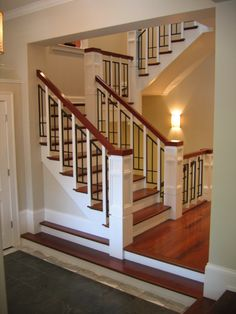 Awesome Craftsman-style staircase. I want one.