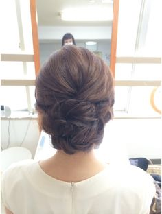 ヘアセットサロン キュア(CURE) ツイストアップ Modern Hairstyles, Bride Hairstyles, Up Styles, Long Hair Styles, Evening Hairstyles, Fries, Hair Arrange, Hair Setting, Wedding Hair Inspiration