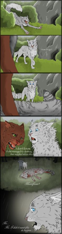I didn't want this to happen... by Spirit-Of-Alaska on DeviantArt. Awww Goosefeather... Now I got the feels