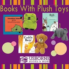 Here are some of the books and plush toys that Usborne Books & More offers. You can buy just the book, just the stuffed animal, or buy them together! Get them at www.texaslonestarbooks.com