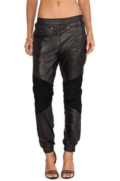 Super Leather Trackies in One Teaspoon #REVOLVEclothing