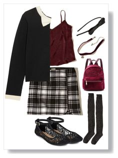 """prep school"" by lifestylepretty ❤ liked on Polyvore featuring Hollister Co., Boutique Moschino, Call it SPRING and Tasha"