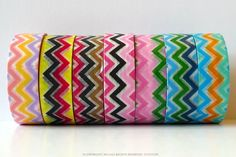Pretty Chevron pattern washi tape in multi color combinations.15mmx10mMade in China**this is not a toy, not intended for children 12 and under**For high quality japanese Washi Tape, check here $2.00