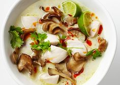 Tom Kha Gai (Chicken Coconut Soup) - Bon Appétit I recently fell in love with Tom Kha soup and am excited to try this recipe!