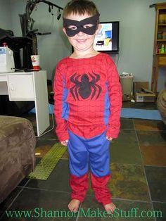 DIY Superhero Costume : DIY  The Best Ever Spider Man Costume :DIY Halloween DIY Costumes