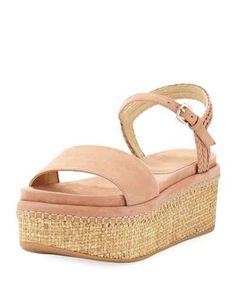 Yourway Platform Suede Sandal