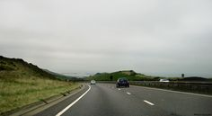 On the descent to the Port of Dover: the English Channel is seen in background.