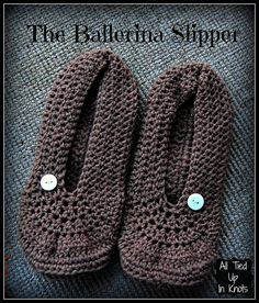 Ladies Ballet Slippers By Tanya Naser - Free Crochet Pattern - (ravelry)