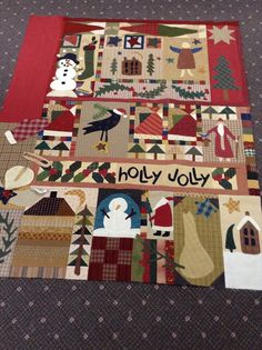 Christmas quilt.  Timeless Traditions: I'm back.....