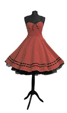 Petticoat Kleid rockabilly 50er Jahre Mode rot von Rockabillymode Petticoatkleider Brautkleider auf DaWanda.com