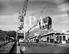 November 1961 The Irish Rowan under construction at Verolme Cork Dockyard, Ireland. It was the first vessel built by the newly-formed dockyard and was operated by Irish Shipping. Photo Archive, Under Construction, Rowan, Cork, 30th, Ireland, Irish, November, Gallery