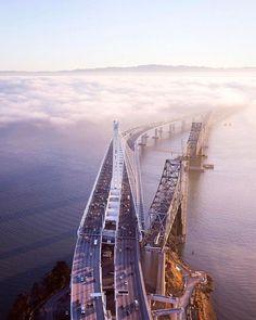 Old vs. new: Bay Bridge, SF