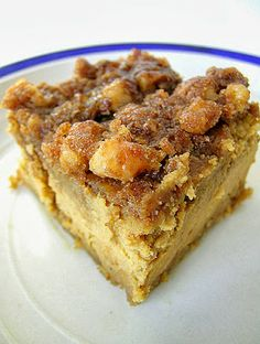 Pumpkin Cheesecake w/ Brown Sugar & Pecans ... dear heaven! ...