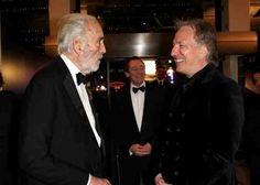Christopher Lee and Alan Rickman