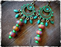 Hey, I found this really awesome Etsy listing at https://www.etsy.com/listing/197001729/long-tibetan-chandelier-earrings-ethnic