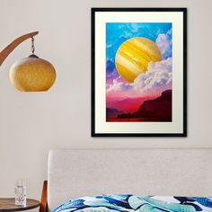 Surreal Collage, Centerpiece Decorations, Custom Boxes, Top Artists, Sell Your Art, Framed Art Prints, Print Design, Clouds, Wall Art