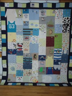CUSTOM ORDERS for quilts made from your baby clothes FULL SIZE by BarbMalmTshirtQuilts on Etsy