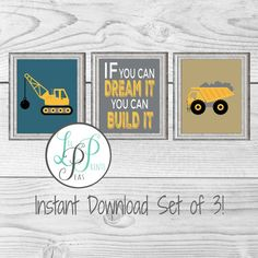 Check out this item in my Etsy shop https://www.etsy.com/ca/listing/458856992/construction-wall-decor-construction