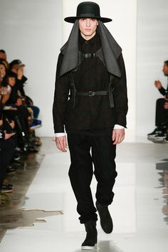 Public School FW14 #NYFW  I'm getting post-apocalyptic nomad priest from this, and I like it!
