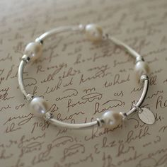 Katie's Silver and Pearl Bracelet from notonthehighstreet.com