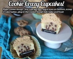 Cookie Crazy Cupcakes… switch Oreos for Tim Tams / Mint Slice