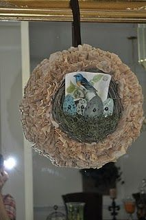 love this coffee filter wreath!