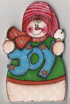 *JOY SNOWMAN ~ Ornament.
