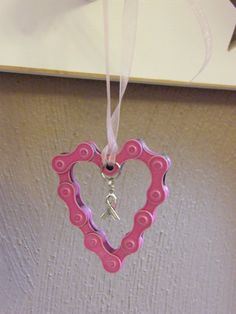 Bicyle Chain Pink Breast Cancer Awareness