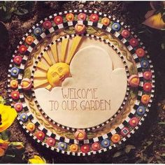 'Welcome To Our Garden' Stepping Stone-Mary Engelbreit