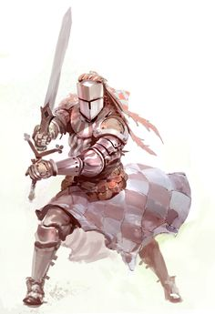 Aura of Courage (Su): Beginning at level, a paladin is immune to fear (magical or otherwise). Each ally within 10 feet of her gains a morale bonus on saving throws against fear effects. Fantasy Character Design, Character Design Inspiration, Character Concept, Character Art, Concept Art, 3d Fantasy, Fantasy Armor, Medieval Fantasy, Caballero Andante