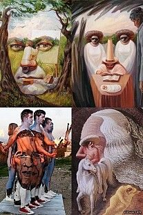 Optical illusion art, is a mathematically-based genre that makes optical illusions. Some of these pieces are so realistically created that sometimes it is hard to see where reality starts and fiction ends.    Posted by www.GoMadideas.com #GoMad