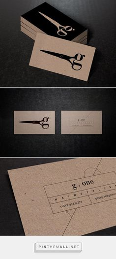 The strength of the black on the natural brown is good #UniqueBusinessCards